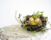 CUSTOM FOR ANGIE Decorative Bird Nest Wedding Nest with Eggs / Spring Home Decor