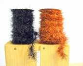Halloween Tinsel Garland Spool  Orange Vintage Style