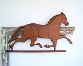 SALE Carved Wood Horse Equestrian Modern Farmhouse Decor