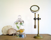 Magnifying Glass on Adjustable Brass Stand / Industrial