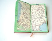 RESERVED 60s Vintage French Map Book / Michilin France Road Map Guide Book