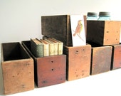 Vintage Industrial Wood Crates Cubbies / Storage Organization