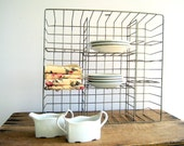 Vintage General Store Wire Rack  /  Industrial Home Organization Decor
