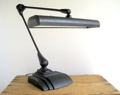 Vintage Industrial Flexo Desk Drafting Lamp / Industrial Home Office Lighting