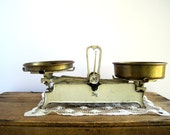 Cast Iron Apothecary Scales / French Country Home Decor