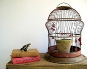 Vintage Birdcage Dome Cloche  / Rustic Wedding
