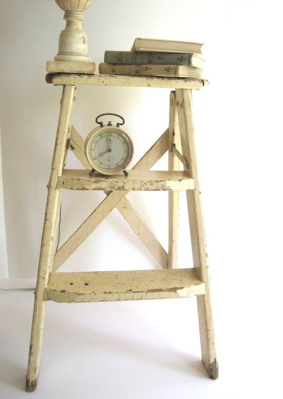 Vintage Pink And Chippy Step Ladder Repurpose