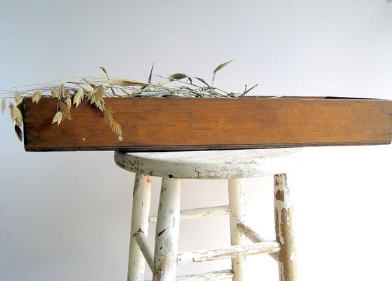 Antique Wood Crate Tray