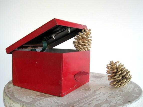 Vintage Metal Box Industrial Storage Protectoseal Chicago