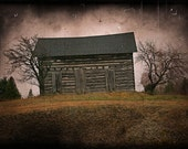 landscape photography rural decay abandoned house spooky haunted fine art photography print home decor