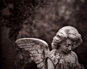 still life photography guardian angel fine art photography statue cemetery gallery wrap home decor nursery decor