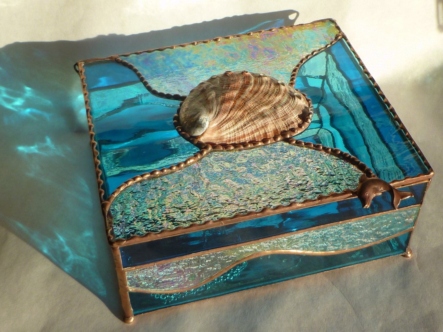 Stained Glass Jewelry Box Patterns Stained glass jewelry box by