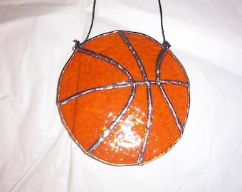 Basket Ball Stained Glass suncatcher