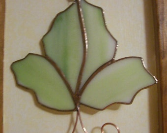 Fall leaf Stained glass Suncatcher.
