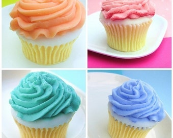 Soap Gift Set, Cupcake Soaps, Soap Gifts, Gift Set, Glycerin Soaps, Birthday Gifts, Cupcakes, Thinking of You, Bakery, As seen on Today.com