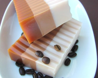 Dad Gift. Gift for Him. Coffee SALE Soap. JAVA LATTE Soap, Coffee Shop, Coffee Lovers, Coffee Addict, Fresh Brewed, Stocking Stuffer for Men