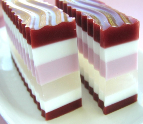 Candy Cane Ruffle Soap