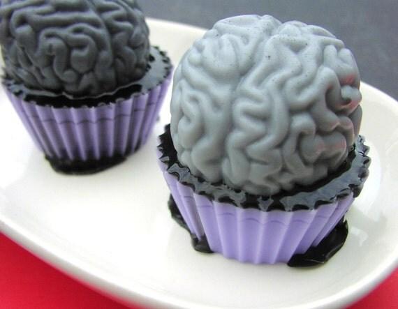Gooey Brain Cupcake Soap - Halloween