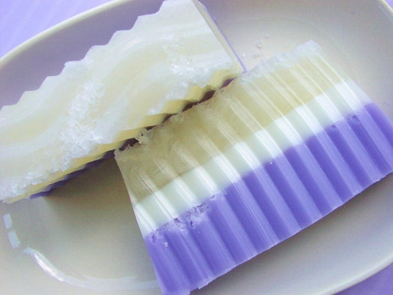 Purple Soap - Butterfly Dreams - Salt Bar-  All Natural Glycerin Soap - Feminine