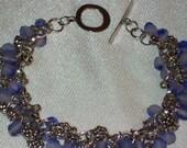 Purple Cluster Bracelet - RESERVED for Mareeka