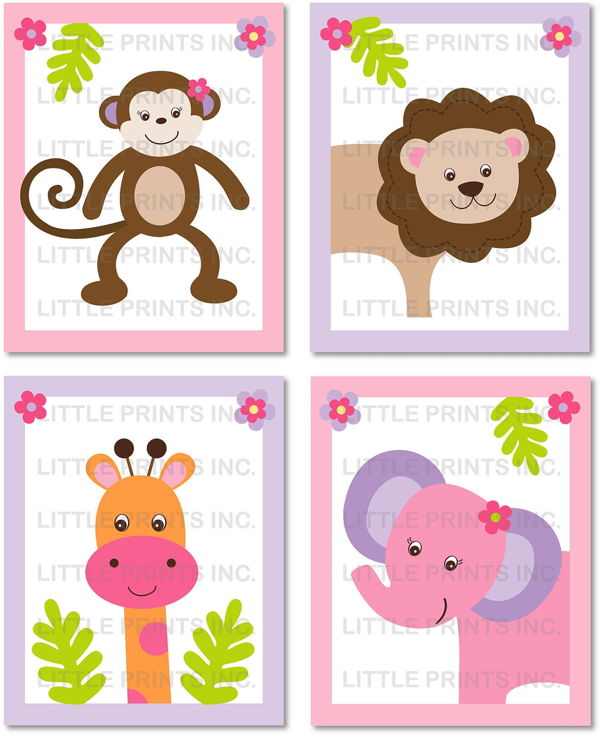 Dynamic image throughout printable jungle animals