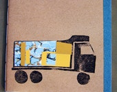 Paperback Notebook with pockets - truck design