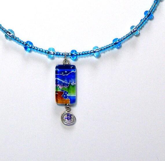 SALE... Starlight Creek Beaded Choker... Wearable Art Jewelry