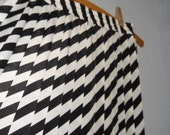 RESERVED Black and White Accordion skirt