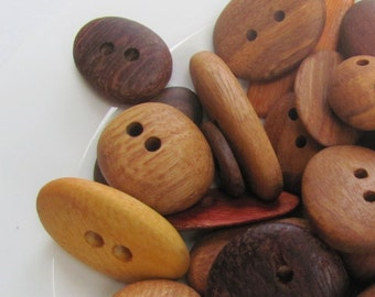 Australian Recycled Wood Buttons x 20