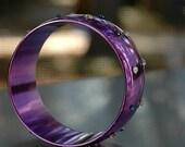 Embellished Neon Purple Bracelet