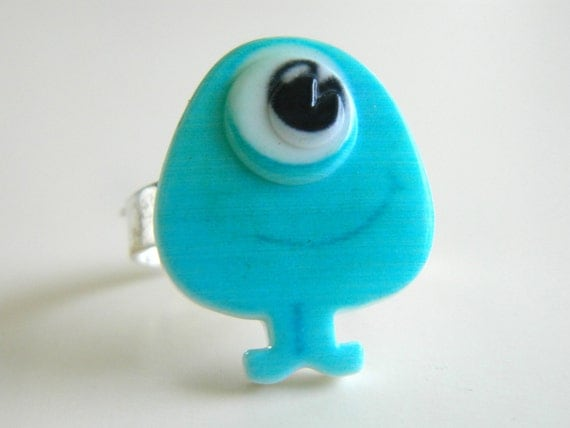 Blue Monster Ring