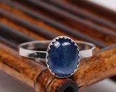 Kyanite Ring, Handmade Ring, Sterling Silver Ring, Natural Gemstone
