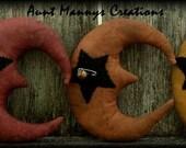 Primitive Folk Art Halloween Moon Ornies Pattern