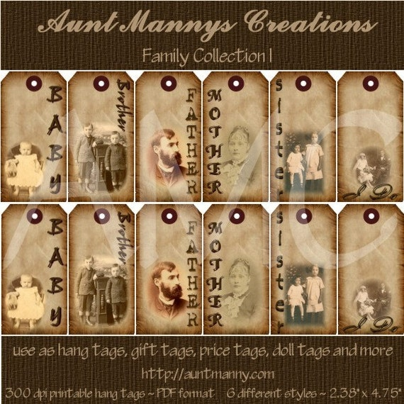 Divine image in free printable hang tags