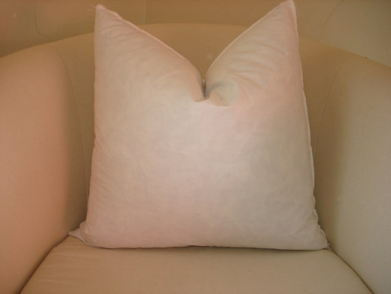 "18"" x 18"" feather/down pillow inserts"