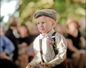 RESERVED FOR LIAM - Kids Newsboy Organic Flat Cap - Ring Bearer Wedding - 5 6 7 8 and Up - Fall Winter Spring Summer Nuptuals