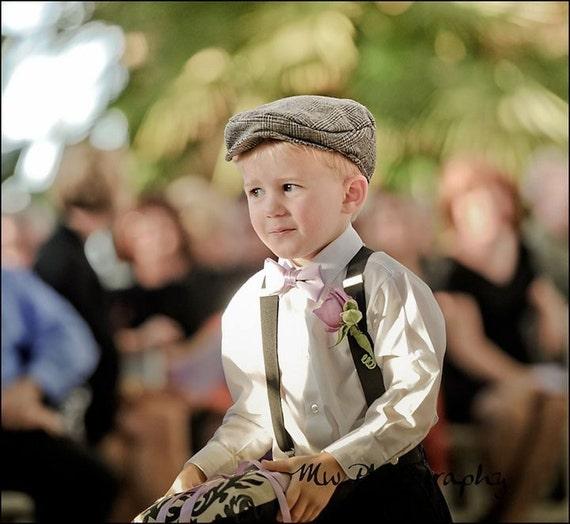 Kids Newsboy Organic Flat Cap - Ring Bearer Wedding Fall Winter Spring Summer Nuptuals