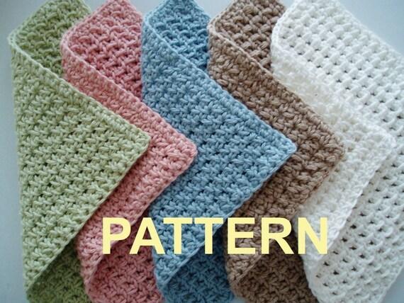 Waffle Crochet Spa Washcloth Pdf Pattern