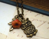 Sale 50 Percent Off - Who Gives a Hoot Necklace