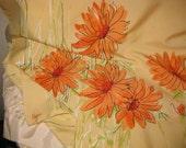 Vintage Vera Scarf-Lovely Orange Flowers Pretty enough to frame