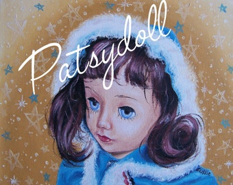 Della in Snowsuit Oil Painting