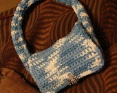 BLUE SKY 100 Percent Cotton SMALL Purse Bag 6 Inches Wide