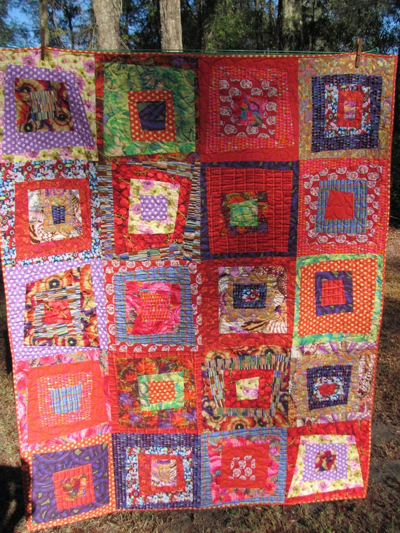 Reserved for sweetexpression927, please do not purchase unless you are she. modern quilt, titled Bohemian Carpet Ride, Kaffe Fasset fabric