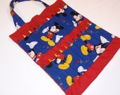 SALE Mickey Mouse Crayon Tote Bag