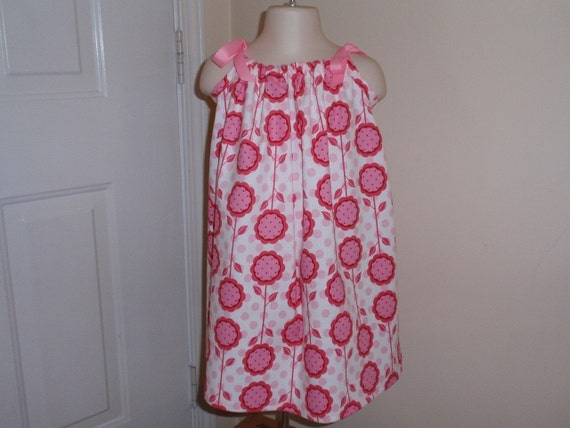 Patty Young Andalucia Mod Flowers in Petal Pink Pillowcase Dress