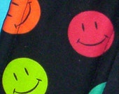 Smiley Face DRIPPER-STOPPER Belly-Band Diaper Wrap - - 10 1/2 inch PREMADE - - male dog puppy diaper wrap