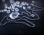 """Figaro chain oxidized sterling silver finish 17.5"""" 1.8mm"""