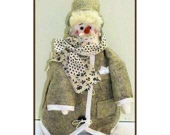 Doug, The Handy Dandy Handmade Gentleman Snowman Doll