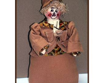 Refined Scarecrow Jimmy Victorian Art Doll