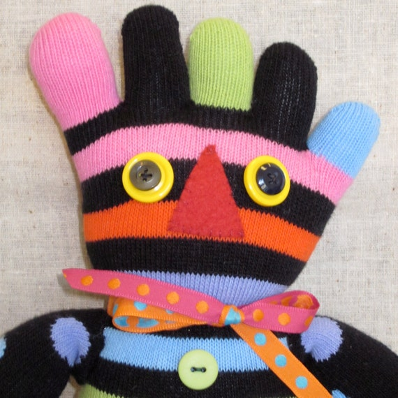Sock Doll Plush Made from Toe Socks
